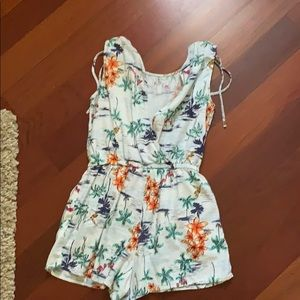 Romper with floral designs